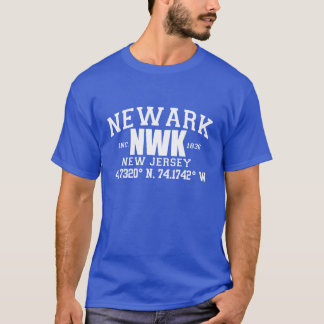 NEWARK City Incorporated Coordinates graphic tee