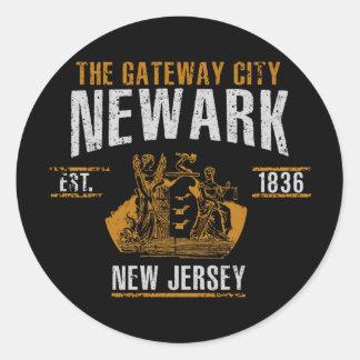 Newark Classic Round Sticker