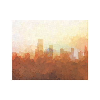 NEWARK, NEW JERSEY SKYLINE-In the Clouds Canvas