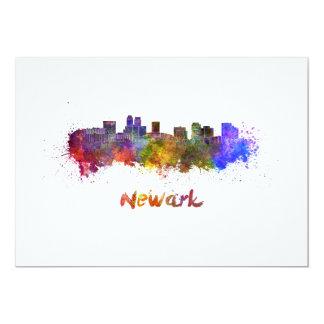 Newark skyline in watercolor card