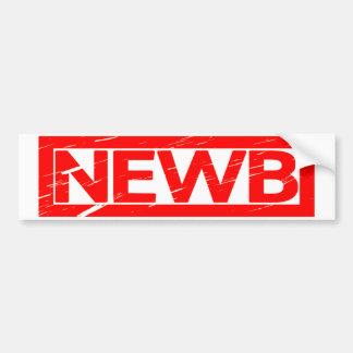 Newb Stamp Bumper Sticker