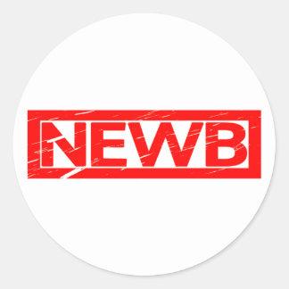 Newb Stamp Classic Round Sticker
