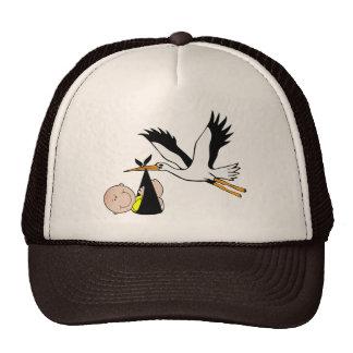 Newborn Baby and Stork Hats