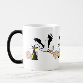 Newborn Baby and Stork Magic Mug