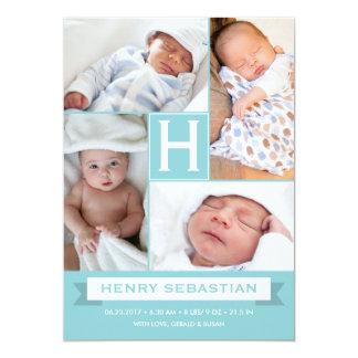 Newborn Baby Birth Announcement Photo Collage
