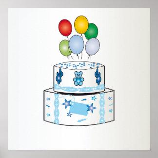 newborn baby cake poster