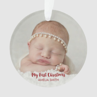 Newborn Baby Photo Holiday Ornament