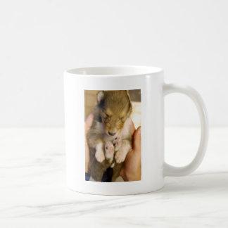 Newborn Collie Puppy Coffee Mug