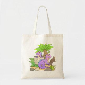 newborn dinosaurs tote bag
