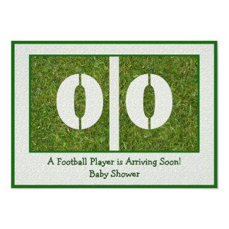 Newborn Football Player Baby Shower Card
