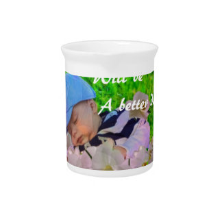 Newborn in a basket beverage pitchers