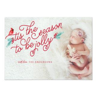 NEWBORN Jolly Christmas Season Card