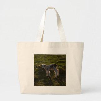 Newborn lamb large tote bag