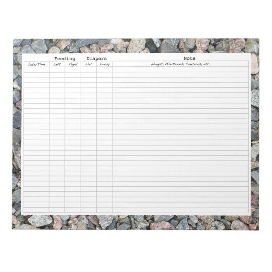 Newborn Tracking Chart Notepad