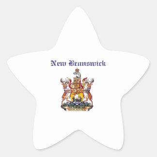 NewBrunswick Canada coat of arms design Star Sticker