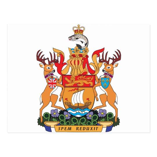 Newbrunswick Coat Of Arms Postcard