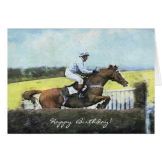Newbury steeplechase birthday card