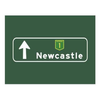 Newcastle, Australia Road Sign Postcard