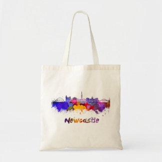 Newcastle skyline in watercolor
