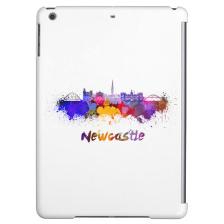 Newcastle skyline in watercolor cover for iPad air