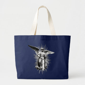 newest angel for black t large tote bag
