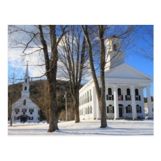 Newfane Vermont Town Common Postcard