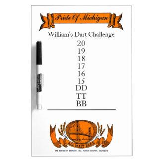Newfie Cricket Dart Challenge Dry Erase Board