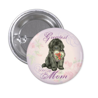 Newfie Heart Mom 1 Inch Round Button
