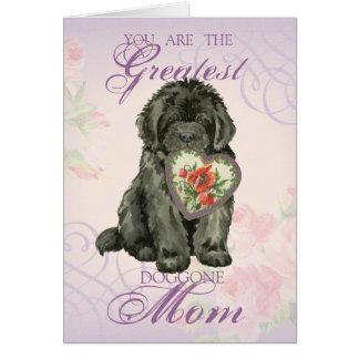 Newfie Heart Mom Card