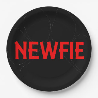 newfie name paw paper plate