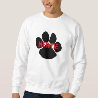 newfie name paw sweatshirt