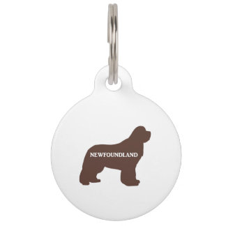 newfie name silo brown pet tag