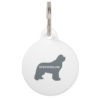 newfie name silo grey pet name tag