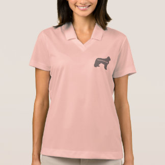 newfie name silo grey polo shirt