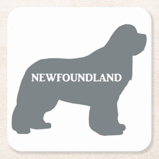 newfie name silo grey square paper coaster