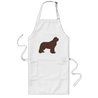 newfie silo brown long apron