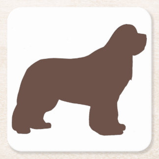 newfie silo brown square paper coaster