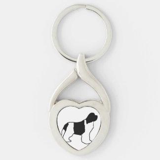 newfie silo white black keychain