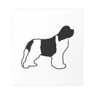 newfie silo white black notepad