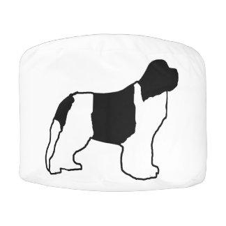 newfie silo white black pouf