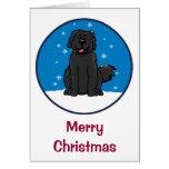 Newfie Snow S Merry Christmas Card