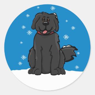 Newfie Snow S Sticker