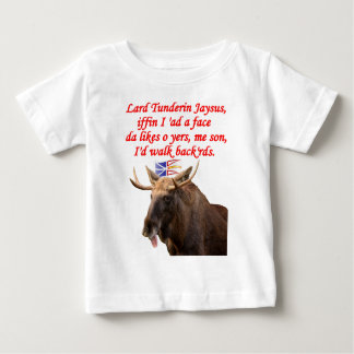 NEWFIE WALK BACKWARDS.png Baby T-Shirt