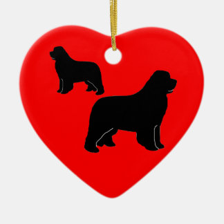 Newfies, newfies and more newfies! ceramic ornament