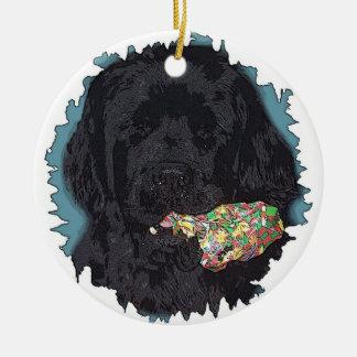 Newfoundlad Dog Christmas Ornament I didn't do it
