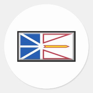 Newfoundland and Labrador Flag Classic Round Sticker