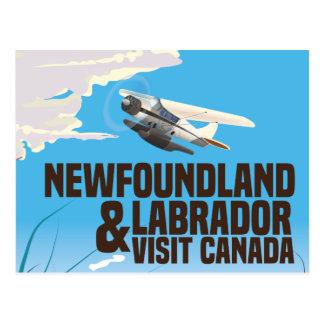 Newfoundland and Labrador travel poster Postcard