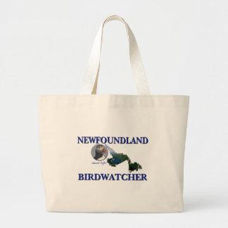 Newfoundland Birdwatcher Large Tote Bag