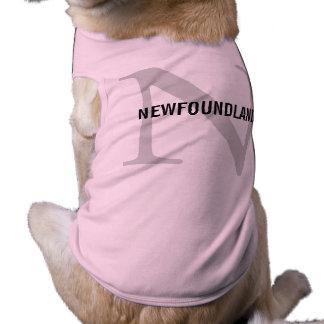 Newfoundland Breed Monogram Design Pet Clothing