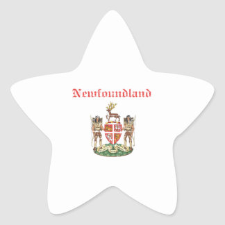 newfoundland Canada coat of arms design Star Sticker